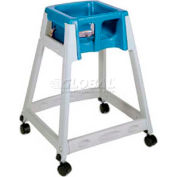 CSL KidSitter™ High Chair with Casters, Gray Frame/Blue Seat