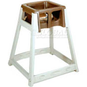 CSL KidSitter™ High Chair, Beige Frame/Black Seat