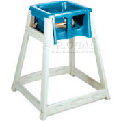 CSL KidSitter™ High Chair, Beige Frame/Blue Seat