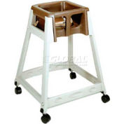 CSL KidSitter™ High Chair with Casters, Beige Frame/Brown Seat