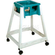 CSL KidSitter™ High Chair with Casters, Beige Frame/Green Seat