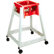 CSL KidSitter™ High Chair with Casters, Beige Frame/Red Seat