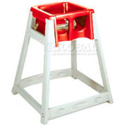 CSL KidSitter™ High Chair, Beige Frame/Red Seat