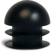"Replacement Round Foot Plug, 1"", Black, 24/Pk."