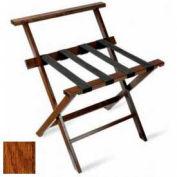 High Back American Hardwood Luggage Rack, Dark Oak,1 Pack