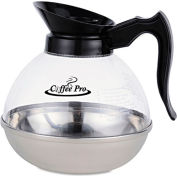 Coffee Pro Decanter OGFCPU12,Unbreakable Regular, 12 Cup, Stainless Steel/Polycarbonate