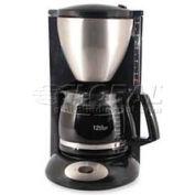 "Coffee Pro Coffee Maker, European Style, 12-Cup Capacity, 8""W x 11""D x 14-1/2""H, Black"