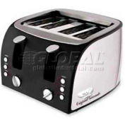 """Coffee Pro Toaster, 4-Slice, 12-1/2""""W x 11-1/2""""D x 8-1/4""""H, Stainless Steel"""