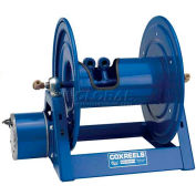 "Dual Hydraulic Hose Spring Rewind Reel 1/4"" I.D., 135' Cap., W/ Outlet Options: Air Motor"