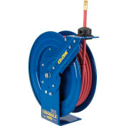 "Safety Series Spring Rewind Hose Reel For Air/Water: 1/4"" I.D., 25' Hose, 300 PSI"