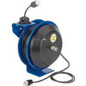 Coxreels EZ-PC13-5016-A Safety Spring Rewind Power Cord Reel Single Industrial recept 50' Cord 16AWG