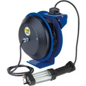 Coxreels EZ-PC13-5016-D Safety Spring Rewind Power Cord Reel: Fluor Angle Light 50' Cord 16AWG