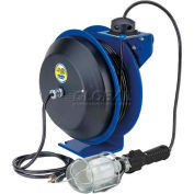 Coxreels EZ-PC13-5016-E Safety Spring Rewind Power Cord Reel: Incand Cage Light 50' Cord 16AWG