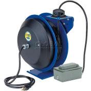 Coxreels EZ-PC24-0012-F Safety Series Spring Rewind Power Cord Reel: Duplex Recept 100' Cord 12 AWG