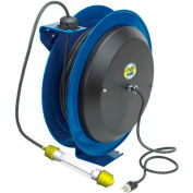 Coxreels EZ-PC24-0016-C Safety Spring Rewind Power Cord Reel: Fluor Tube Light 100' Cord 16AWG