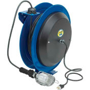 Coxreels EZ-PC24-0016-E Safety Spring Rewind Power Cord Reel Incand Cage Light 100' Cord 16AWG