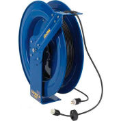 Coxreels EZ-PC24L-0016 Safety Series Spring Rewind Power Cord Reel: 100' Cord Capacity, 12 AWG