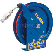 Safety Series Spring Rewind Static Discharge Cord Reel: 75' Cord