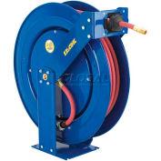 "Safety Series Spring Rewind Hose Reel For Air/Water: 1/2"" I.D., 75' Hose, 300 PSI"