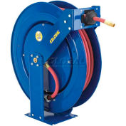"Safety Series Spring Rewind Hose Reel For Air/Water/Oil: 1/2"" I.D., 75' Cap., Less Hose, 300 PSI"