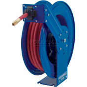 """Heavy Duty Spring Rewind Hose Reel For Grease/Hydraulic Oil: 3/8"""" I.D., 50' Hose, 5000 PSI"""