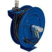 "Dual Hydraulic Hose Spring Rewind Hose Reel For Hydraulic Oil: 1/2"" I.D., 30' Hose, 2500 PSI"