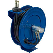 "Dual Hydraulic Hose Spring Rewind Hose Reel For Hyd. Oil: 1/4"" I.D., 50' Cap., Less Hose, 3000 PSI"