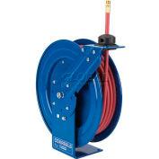 "Spring Rewind Hose Reel For Air/Water/Oil: 3/8"" I.D., 10' Hose Capacity, Less Hose, 300 PSI"
