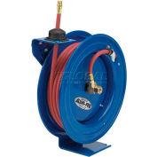 "Spring Rewind Hose Reel For Air/Water: 3/8"" I.D., 50' Hose Capacity, Less Hose, 300 PSI"