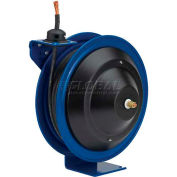 Spring Rewind Welding Cable Reel: 25' 1Ga Cable Capacity, Less Cable