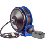 Coxreels PC10-3012-F Compact Efficient Heavy Duty Power Cord Reel w/Duplex GFCI Metal Recept, 12 Ga.