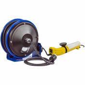 Coxreels PC10-3016-D Compact Retractable Power Cord Reel Fluorescent Tube Light 16 Ga w/ Tap
