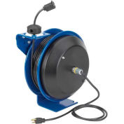 Coxreels PC13-5016-A Power Cord Spring Rewind Reel: Single Industrial Receptacle, 50' Cord, 16 AWG