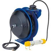 Coxreels PC13-5016-C Power Cord Spring Rewind Reel: Fluor. Tube Light, 50' Cord, 16 AWG