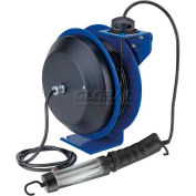 Coxreels PC13-5016-D Power Cord Spring Rewind Reel: Fluor. Angle Light, 50' Cord, 16 AWG
