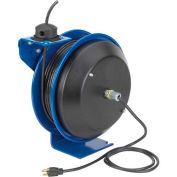 Coxreels PC17-3510-X Power Cord Spring Rewind Reel: Less Accessory, 35' Cord, 10 AWG