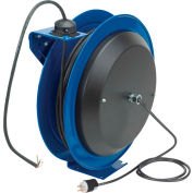Coxreels PC19-7512-X Power Cord Spring Rewind Reel: 75' Cord, 12 AWG, Less Accessory