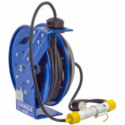 Coxreels PC24-0016-C Power Cord Spring Rewind Reel: Fluor. Tube Light, 100' Cord, 16 AWG