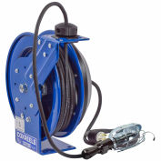 Coxreels PC24-0016-E Power Cord Spring Rewind Reel: Incand. Cage Light, 100' Cord, 16 AWG