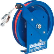 Spring Rewind Static Discharge Cable Reel: 100' Stainless Steel Cable
