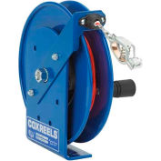 Coxreels SDH-100 Spring Rewind Static Discharge Hand Crank Cable Reel, 100' Stainless Steel Cable