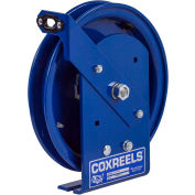 Spring Rewind Static Discharge Cable Reel: 100' Cable Capacity, Less Cable