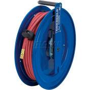 """Spring Rewind Hose Reel For Air/Water: 1/4"""" I.D., 35' PVC Hose, 300 PSI, Left Mount"""