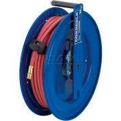 """Spring Rewind Hose Reel For Air/Water/Oil: 1/4"""" I.D., 50' Hose, 300 PSI, Right Mount, Low Pressure"""
