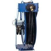 "Dual Hydraulic Hose Spring Rewind Hose Reel For Hydraulic Oil: 3/8"" I.D., 50' Hose, 3000 PSI"
