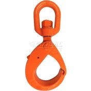 "CM M676020 Grade 100 Bushing Swivel Style Latchlok Hook, 5/8"", 22,600 Lb."