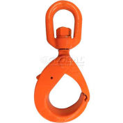 "CM M696020 Grade 100 Bearing Swivel Style Latchlok Hook, 5/8"", 22,600 Lb."