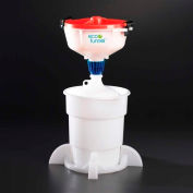"""ECO Funnel® EF-3004C-SYS 8"""" ECO Funnel System, 4L Carboy & Secondary Container, Red Lid"""