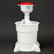 """ECO Funnel® EF-4-38-4004-SYS 4"""" ECO Funnel System, 1 Gal Jug & Secondary Container, Red Lid"""