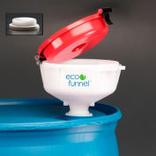 "ECO Funnel® EF-4716-1P 8"" ECO Funnel with 2"" NPT Fine Thread Cap Adapter, Red Lid"